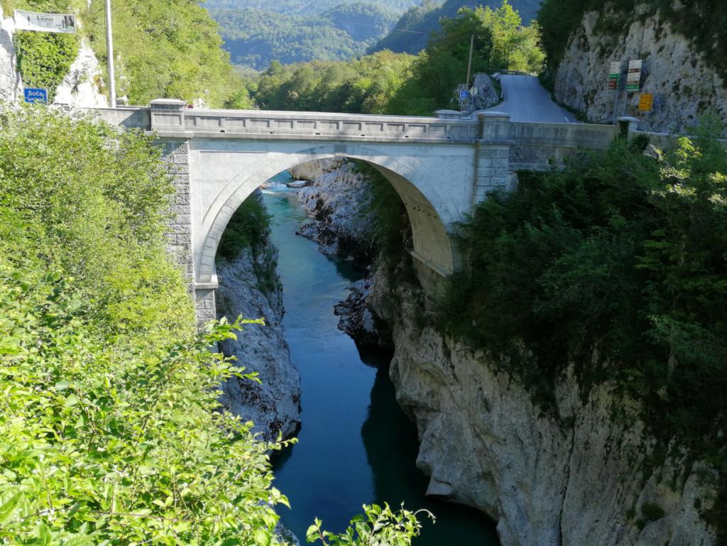 Kobarid Napoleonov most čez Sočo