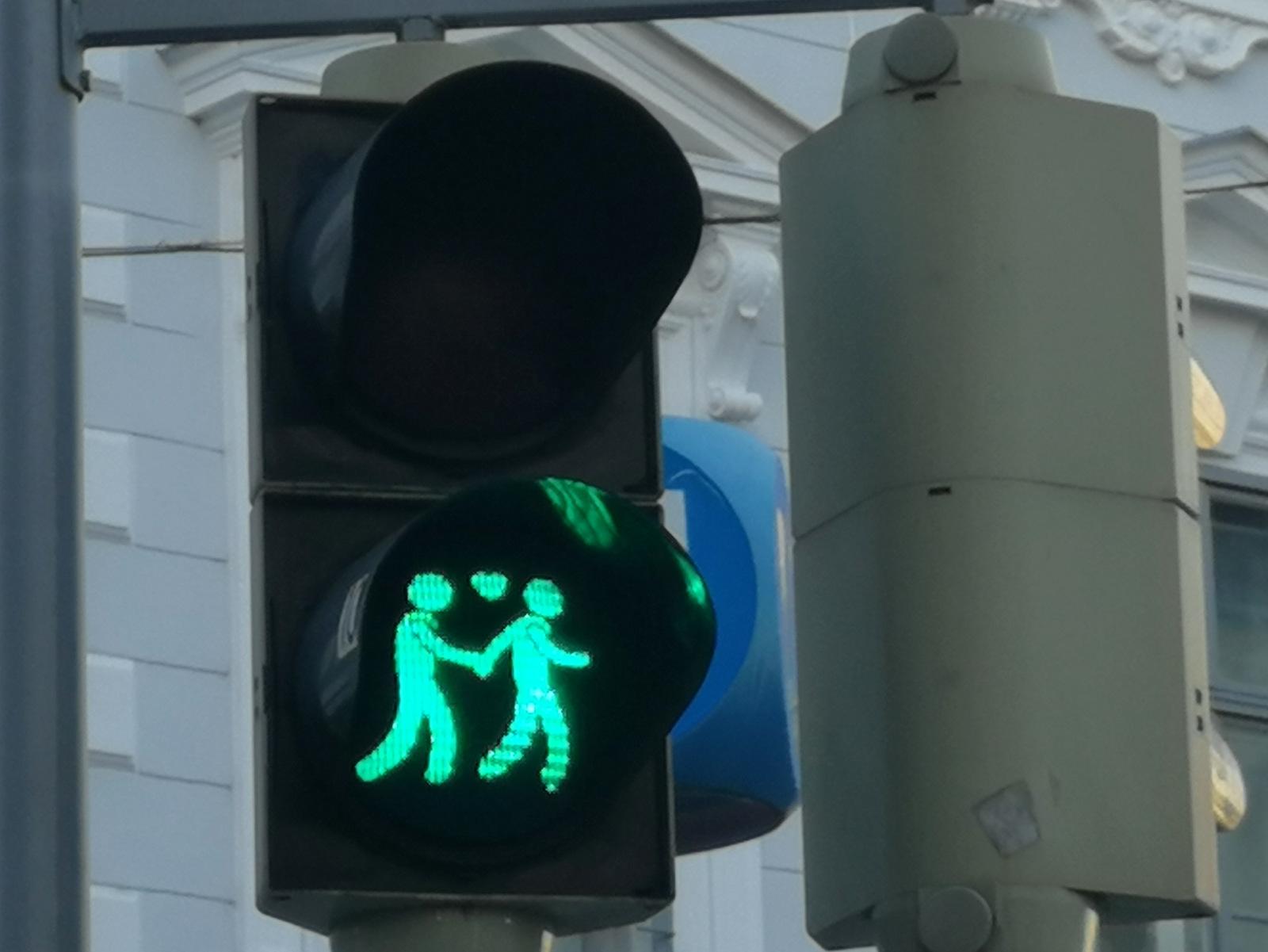 Zanimiv dunajski semafor