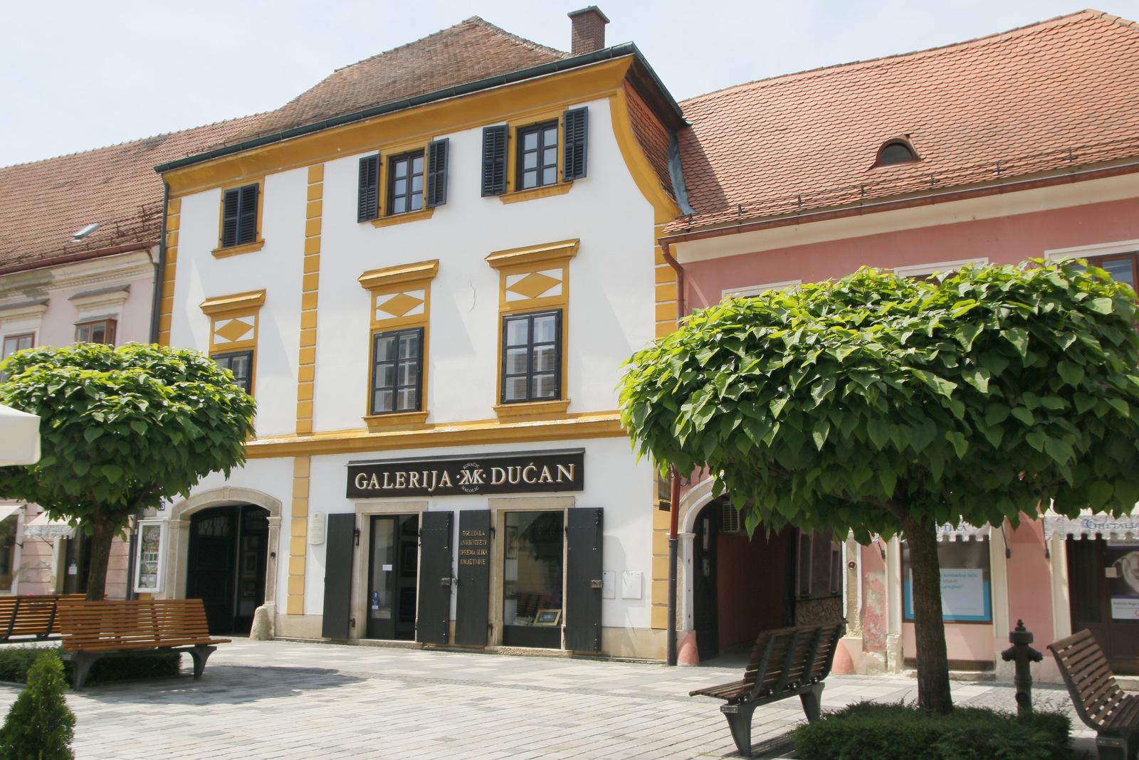 Ena izmed palač z galerijo, Varaždin
