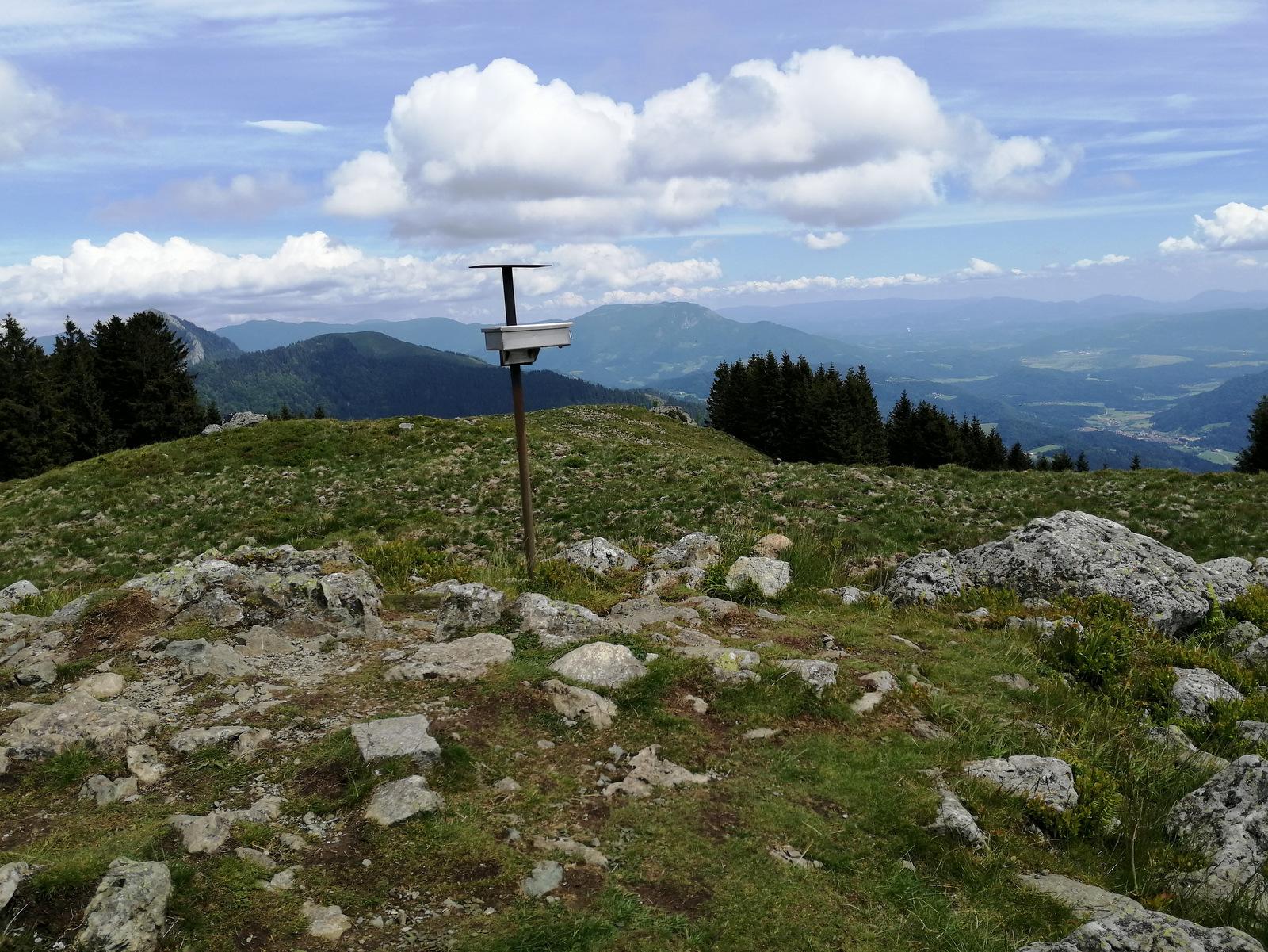 Pot do Kašne planine, vrh