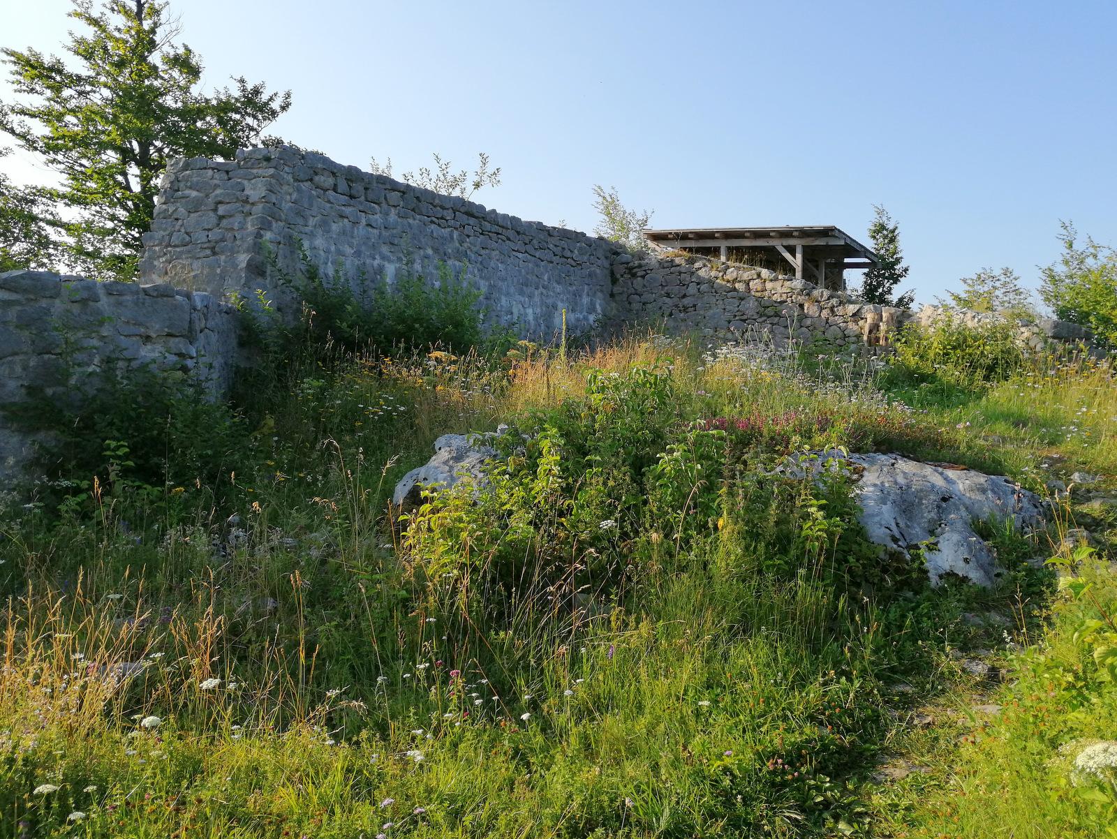Grad Fridrihštajn, ostanki gradu