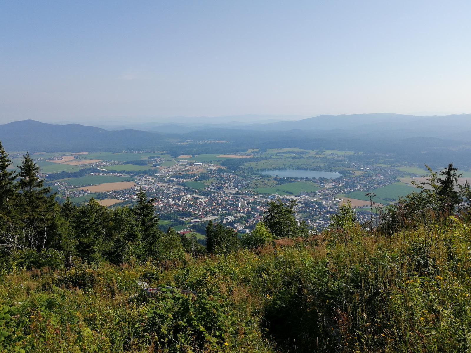 Mestni vrh nad Kočevjem, razgled