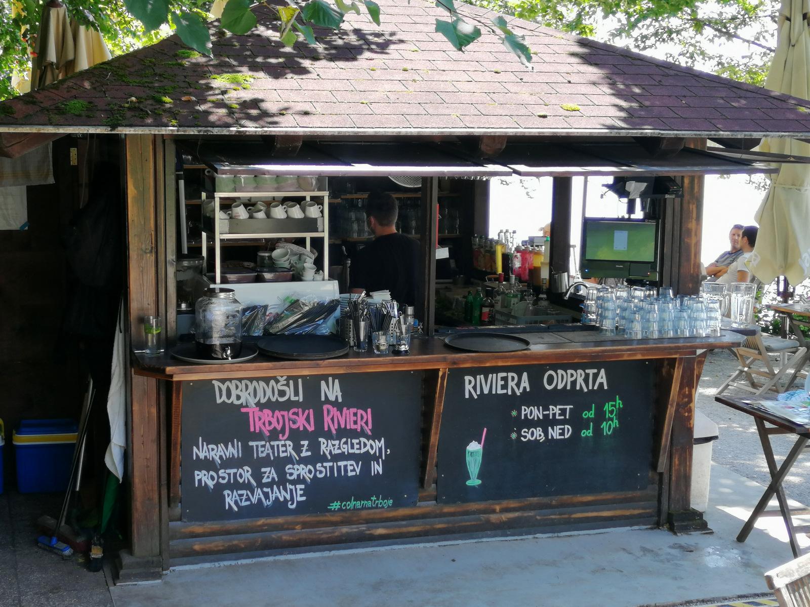 Trbojsko jezero, kavarna