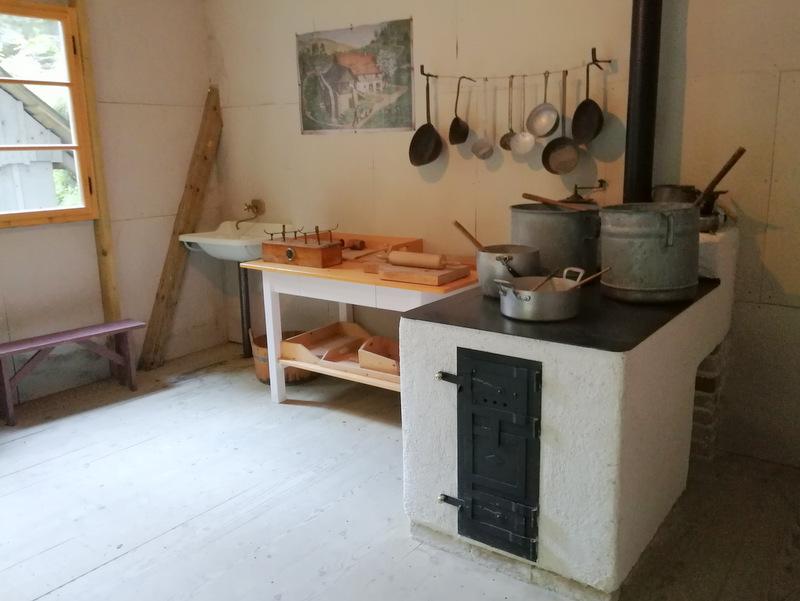 Partizanska bolnica Franja, baraka, kuhinja